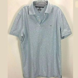 Tommy Hilfiger Mens Polo Shirt Slim Fit Top LL19